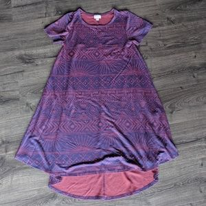 LuLaRoe Carly Purple and Pink
